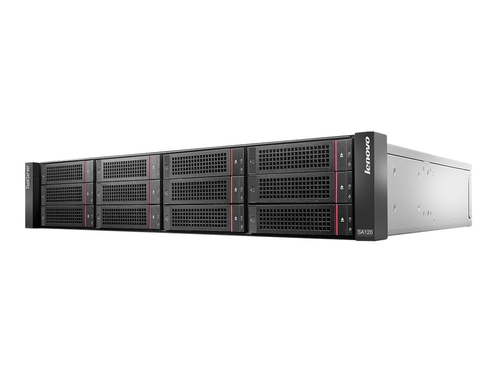 Lenovo 48TB ThinkServer SA120 2U 12x3.5 Hot Swap Direct Attached Storage Array, 70F10007UX, 17344942, Hard Drives - External