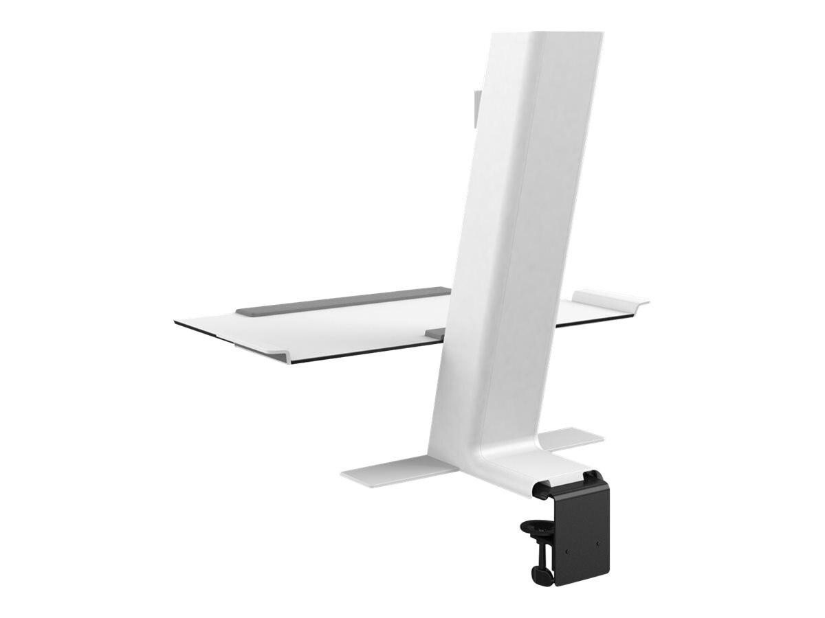 Humanscale QuickStand with Single Monitor Support and Heavy Clamp, White, QSWH30CDN