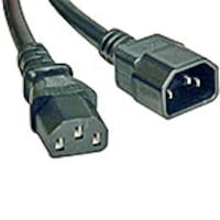 Tripp Lite Heavy Duty Power Cable, 14AWG, C13 to C14, 6ft, Black, P005-006, 9757392, Power Cords