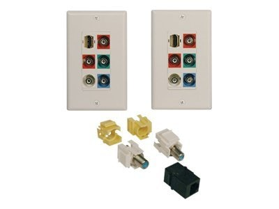 Tripp Lite Plug & Play HDTV Wall Plate Kit, A152-000-2, 8578341, Stereo Components