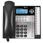 AT&T 4-Line Corded Caller ID Speakerphone with Answering System, Black