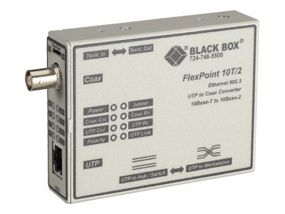 Black Box Flexpoint 10BASE-T to BNC Media Converter