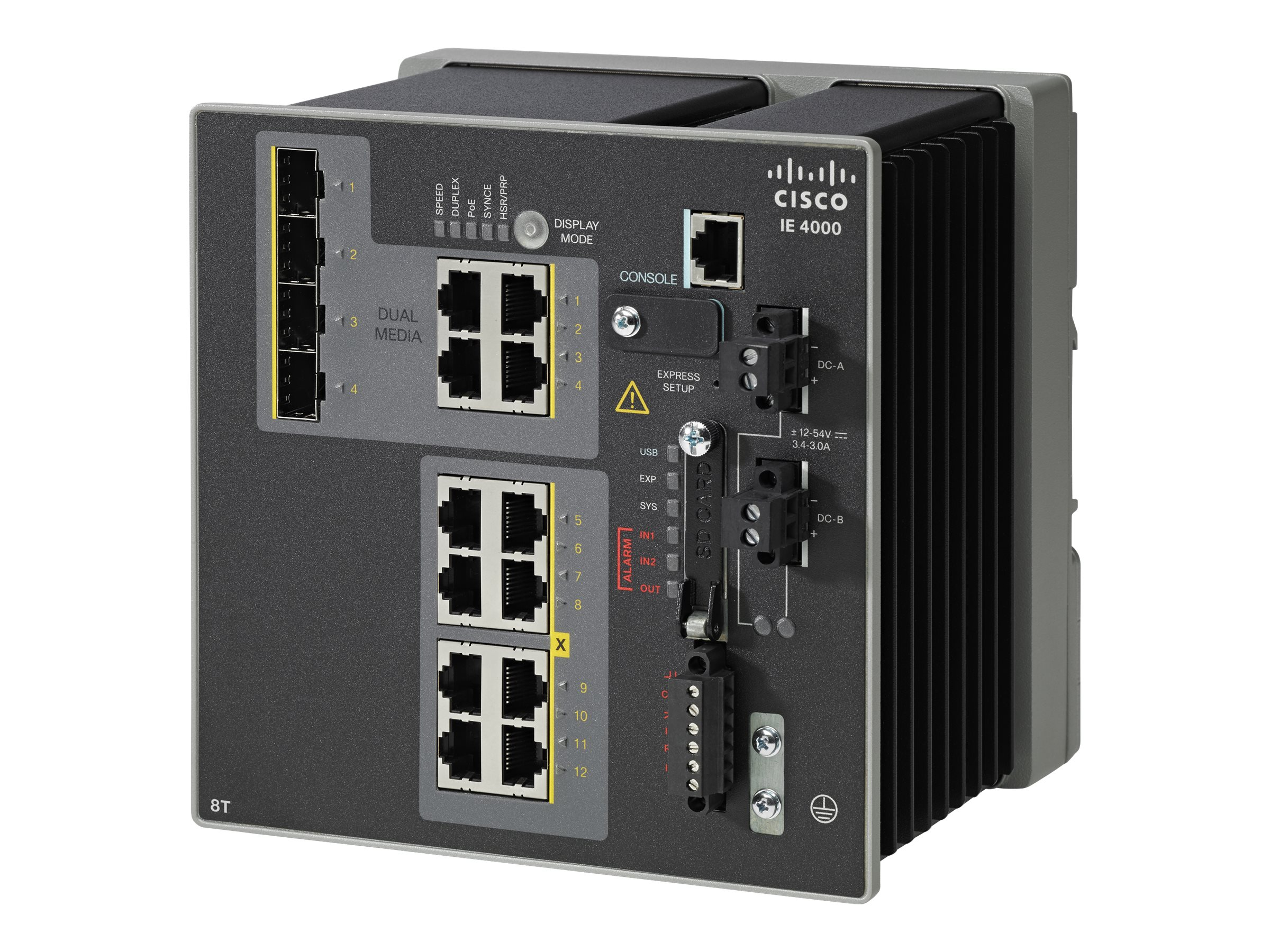 Cisco IE 4000 8XRJ45 10 100M 4X1G  Combo LAN, IE-4000-8T4G-E, 19019123, Network Switches