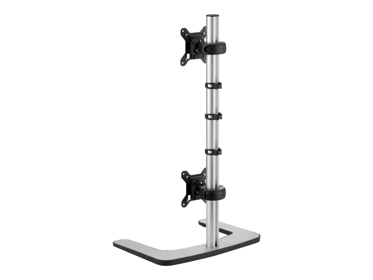 Atdec Visidec Freestanding Vertical Dual Monitor Display Mount, 12-24in Flat Panel, VFS-DV-TAA