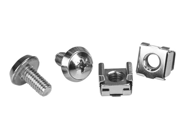 StarTech.com M6 Mounting Screws, Cage & Nuts, 100-Pack, CABSCREWM62
