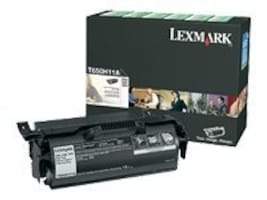 Lexmark Black High Yield Return Program Toner Cartridge for T650, T652 & T654 Series Printers, T650H11A, 9163800, Toner and Imaging Components