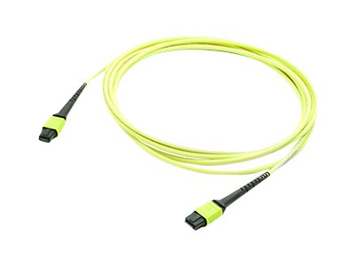 ACP-EP OS1 Fiber Patch Cable, MPO-MPO, 12-Fiber, 9 125, Yellow, 10m, ADD-MPOMPO-10M9SMS