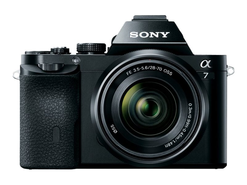 Sony a7 Interchangeable Lens Camera with Lens, ILCE7K/B, 16390381, Cameras - Digital - SLR