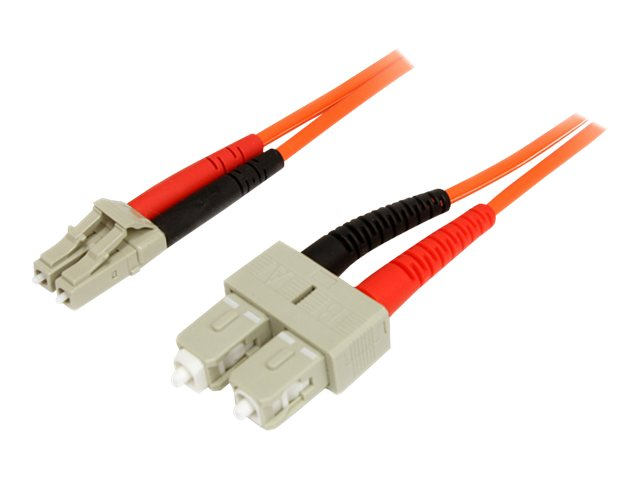 StarTech.com Fiber Optic Patch Cable LC-SC 62.5 125um Duplex Multimode, 1m, FIBLCSC1, 5822960, Cables