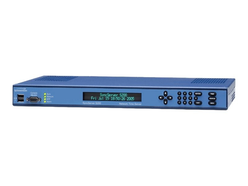 Microsemi SyncServer S200 GPS Network Time Server with Antenna & 50' Coax Cable, 1520R-S200