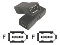 Micro Connectors FireWire 1394 6pin (F-F) Adapter, G08-233, 12967981, Adapters & Port Converters