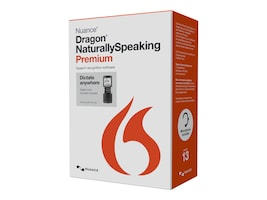 Nuance Dragon NaturallySpeaking 13.0 Premium w Recorder, K609A-GC3-13.0, 17684357, Software - Voice Recognition