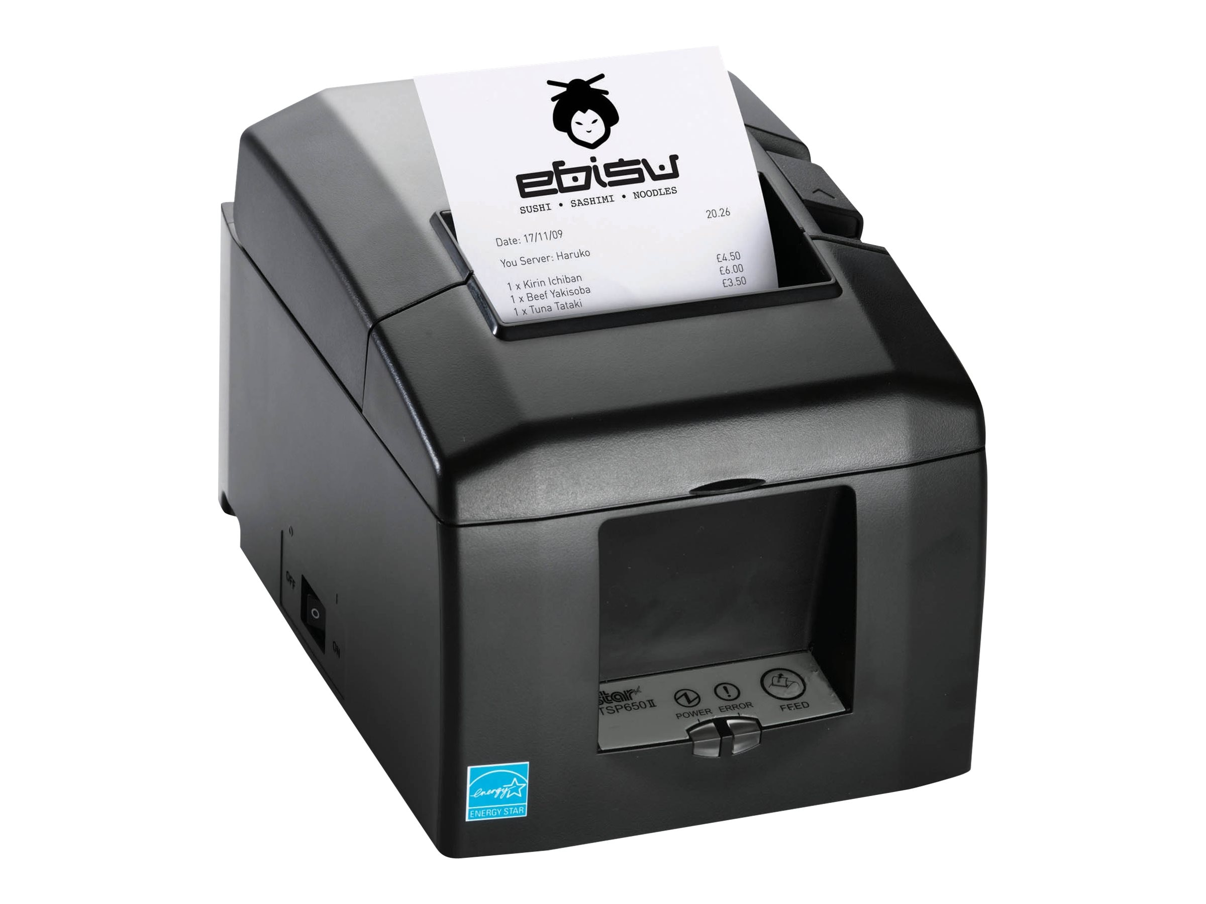 Star Micronics TSP654IIE3 Swap LAN Thermal Printer - Gray w  Cutter & Power Supply, 39449771