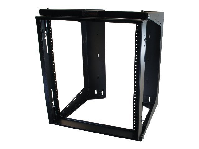 C2G APW Swing Out Wall Mount Rack, Black, 25U x 18, 17808, 7766519, Racks & Cabinets