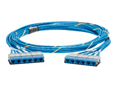 Panduit QuickNet Preterminated Copper Trunk Cable, Blue, 30ft, QZRBCBCBXX30