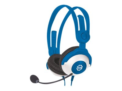 Kidz Gear Headset Headphones with Boom Mic for Kids, Blue, MH68KG04