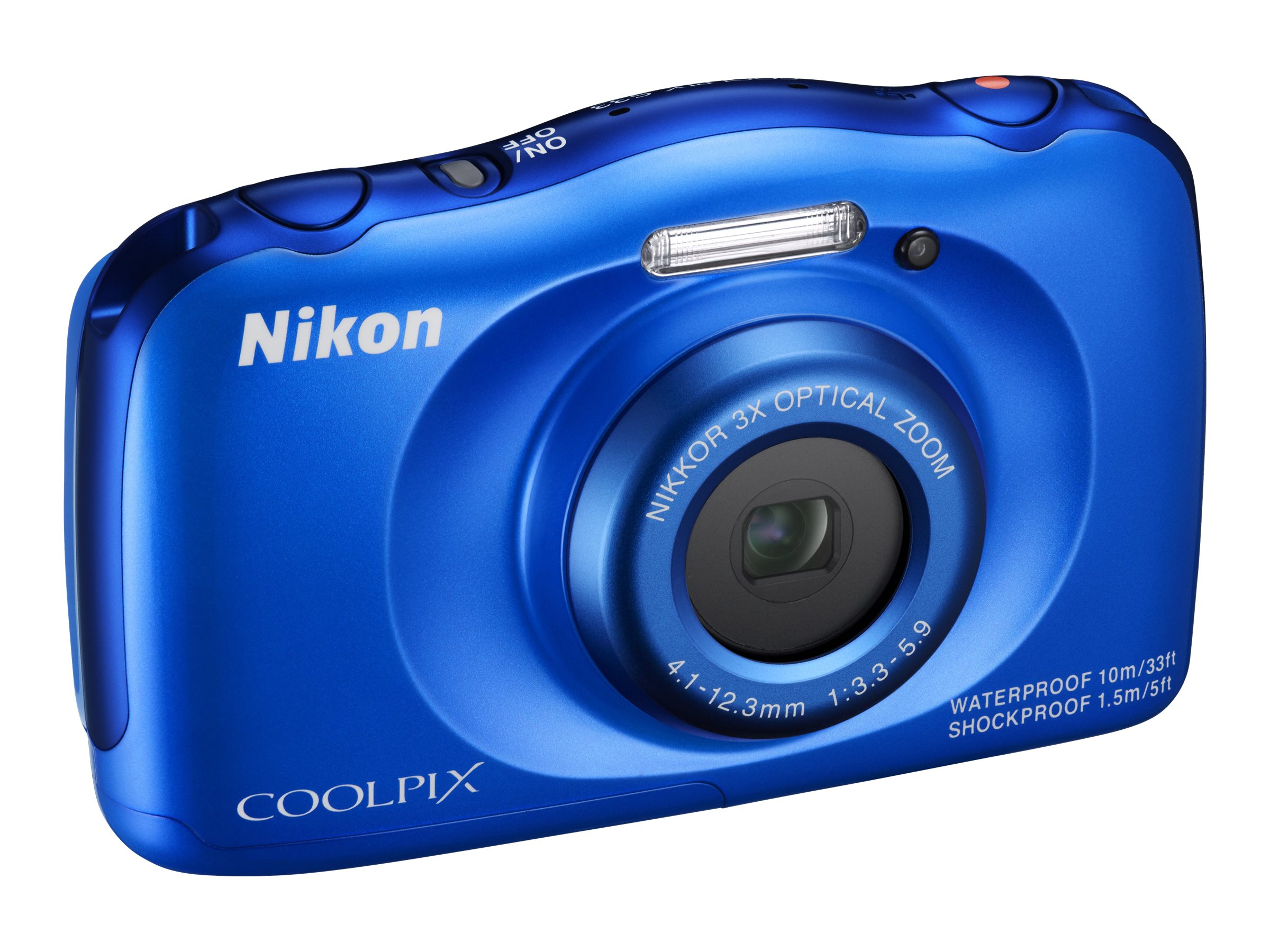 Nikon COOLPIX S33 Digital Camera, Blue, 26496