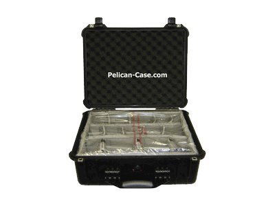 Pelican 1554 Waterproof Case with Dividers, Black