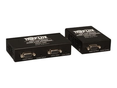 Tripp Lite VGA with Audio over Cat5 Cat6 Extender, Transmitter and Rec with EDID Copy, B130-101A-2, 16041051, Video Extenders & Splitters