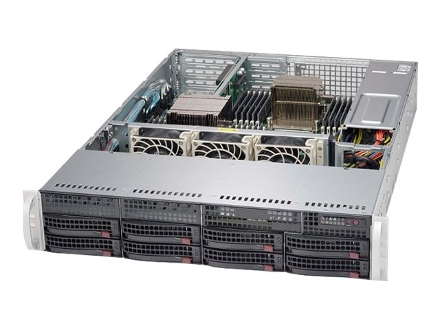Supermicro Chassis, SuperChassis 825TQC-600WB E-ATX (2x)Intel AMD Family 8x3.5 HS Bays 600W