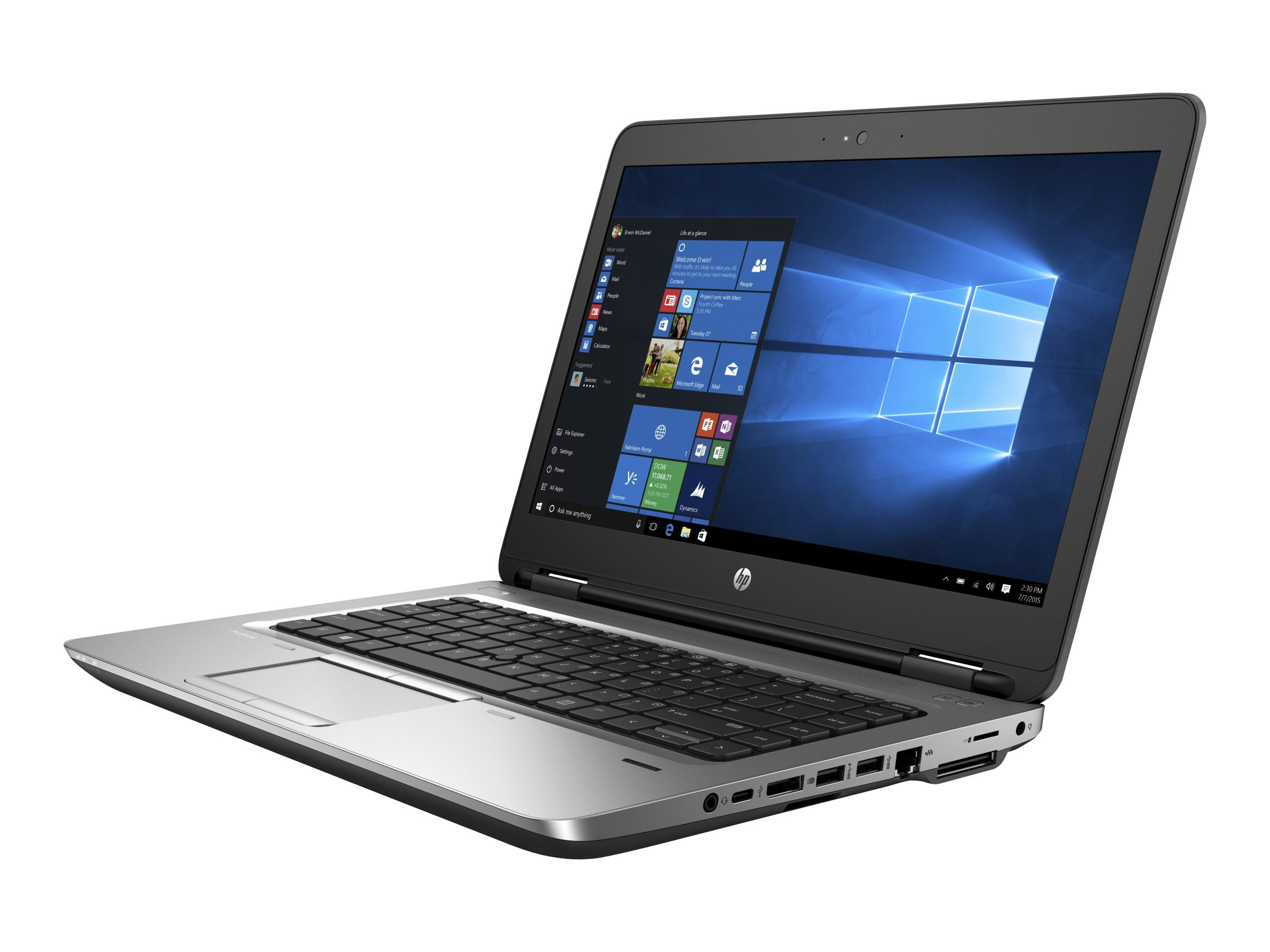 HP ProBook 640 G2 2.3GHz Core i5 14in display, W0S35UT#ABA