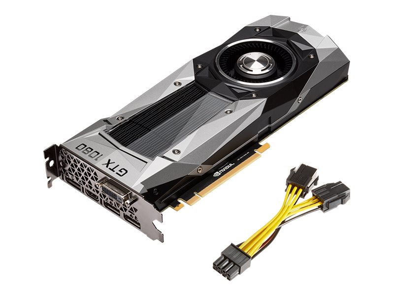 PNY GeForce GTX 1080 PCIe 3.0 x16 Founders Edition Graphics Card, 8GB GDDR5X, VCGGTX10808PB-CG