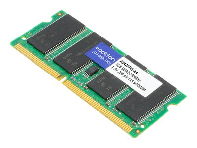 ACP-EP 1GB PC2-6400 200-pin DDR2 SDRAM SODIMM for Dell, A3425745-AA