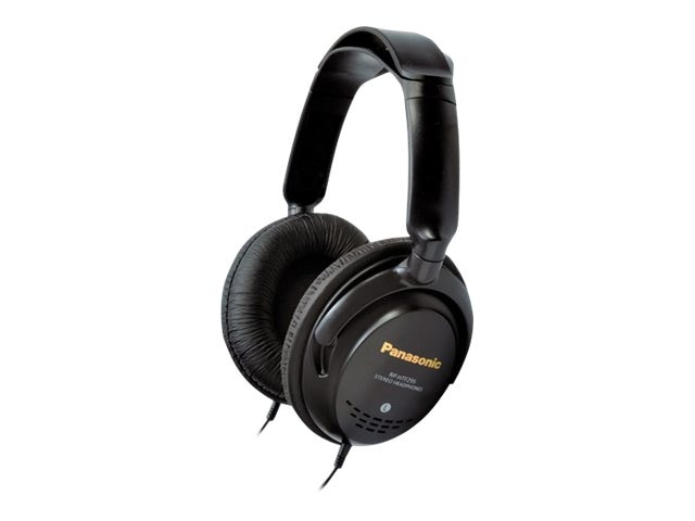 Panasonic RP-HTF295-K Double Headband Headphones, 40mm, Over-Ear, Black, RP-HTF295-K, 13741414, Headphones