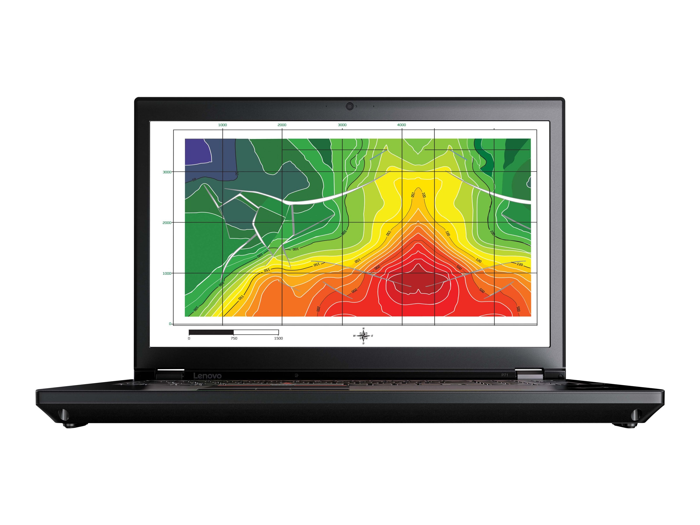 Lenovo TopSeller ThinkPad P71 Xeon E3-1505M v6 3.0GHz 16GB 256GB PCIe ac BT FR SC P3000M 17.3 FHD W10P64