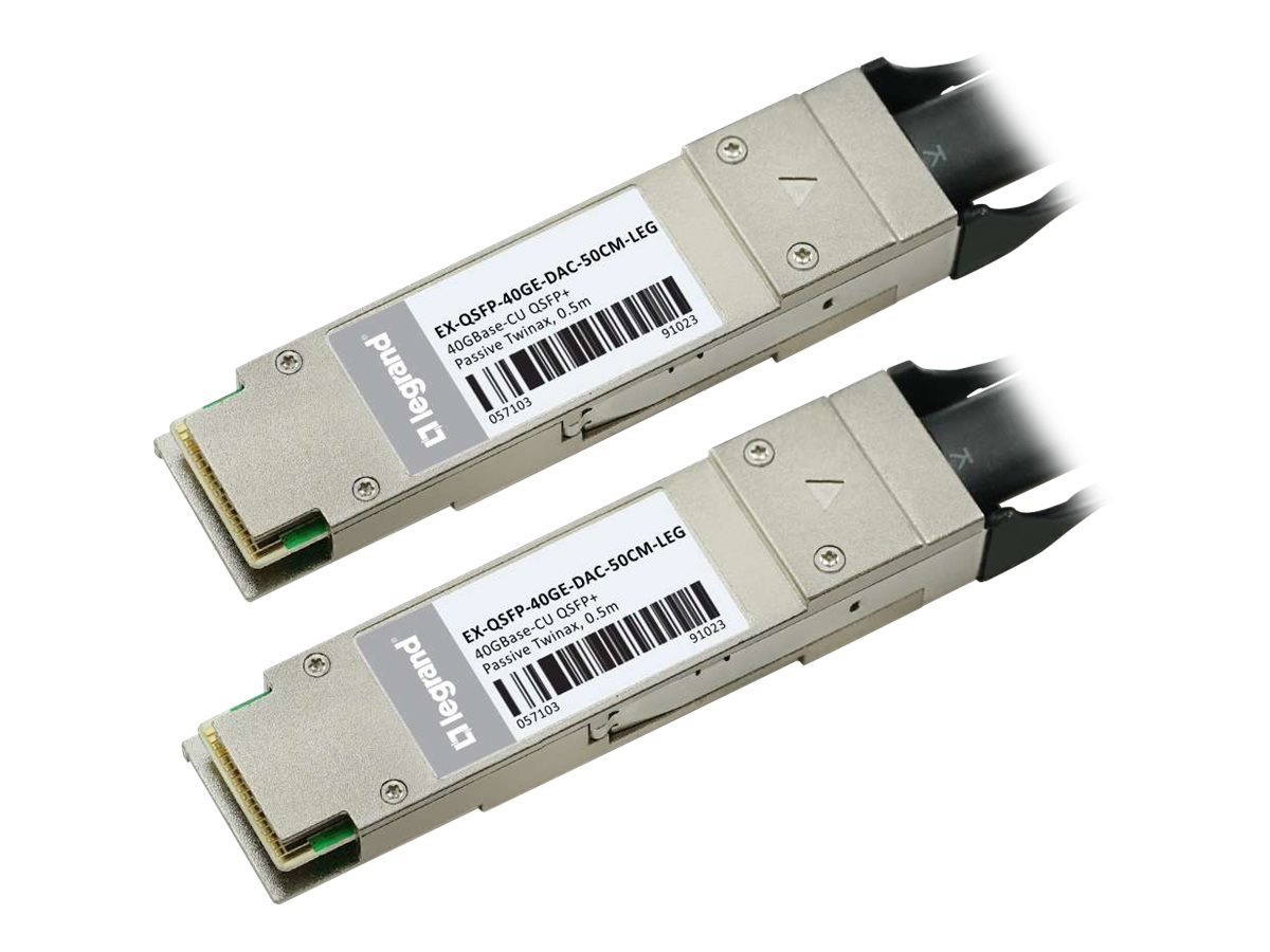 C2G Juniper Networks Compatible 40GBASE-CU QSFP+ to QSFP+ Passive Twinax Direct Attach Cable, 0.5m, TAA