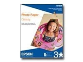 Epson 8.5 x 11 Photo Paper Glossy (50 Sheets), S041649, 310541, Paper, Labels & Other Print Media
