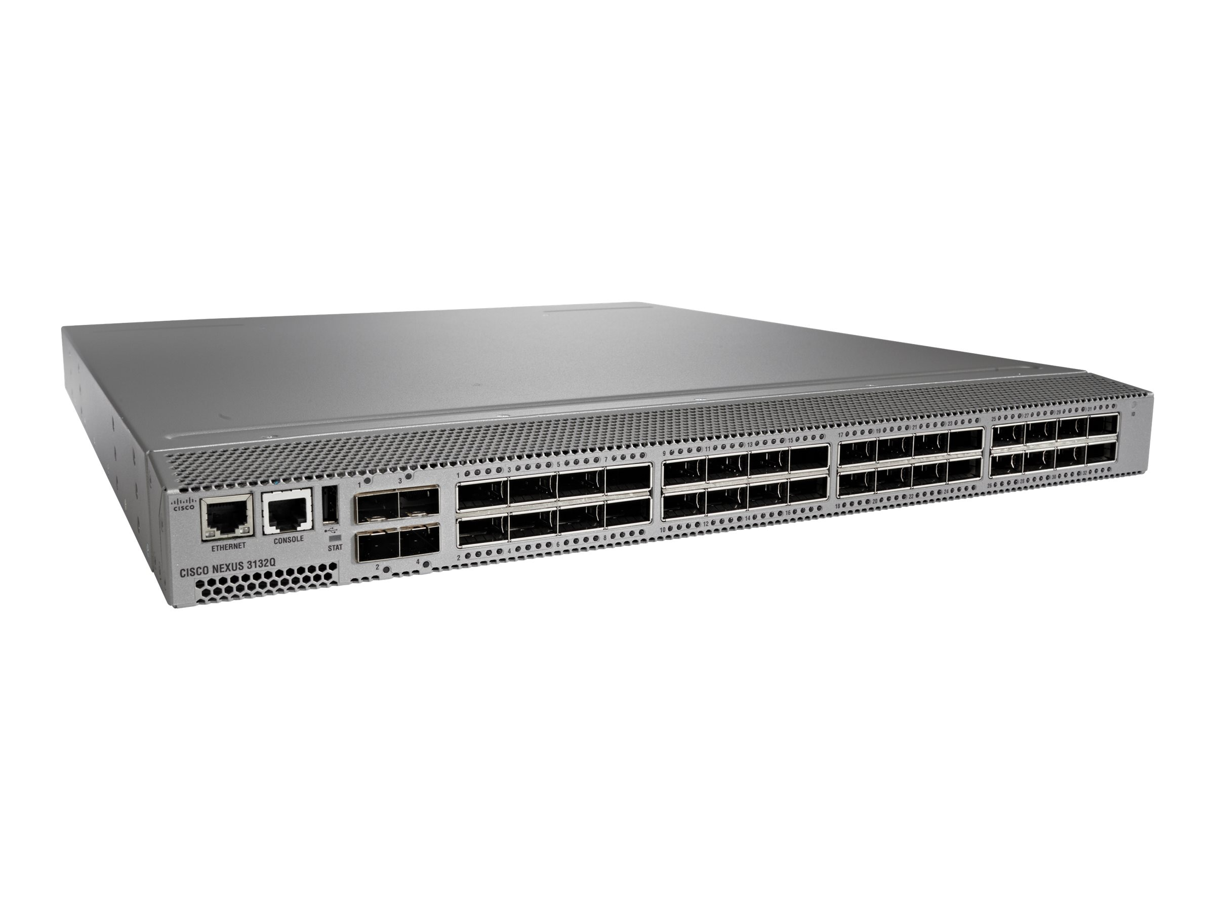 Cisco Nexus 3132Q Switch, Rev. Airflow, PT AC PSU, LAN EN