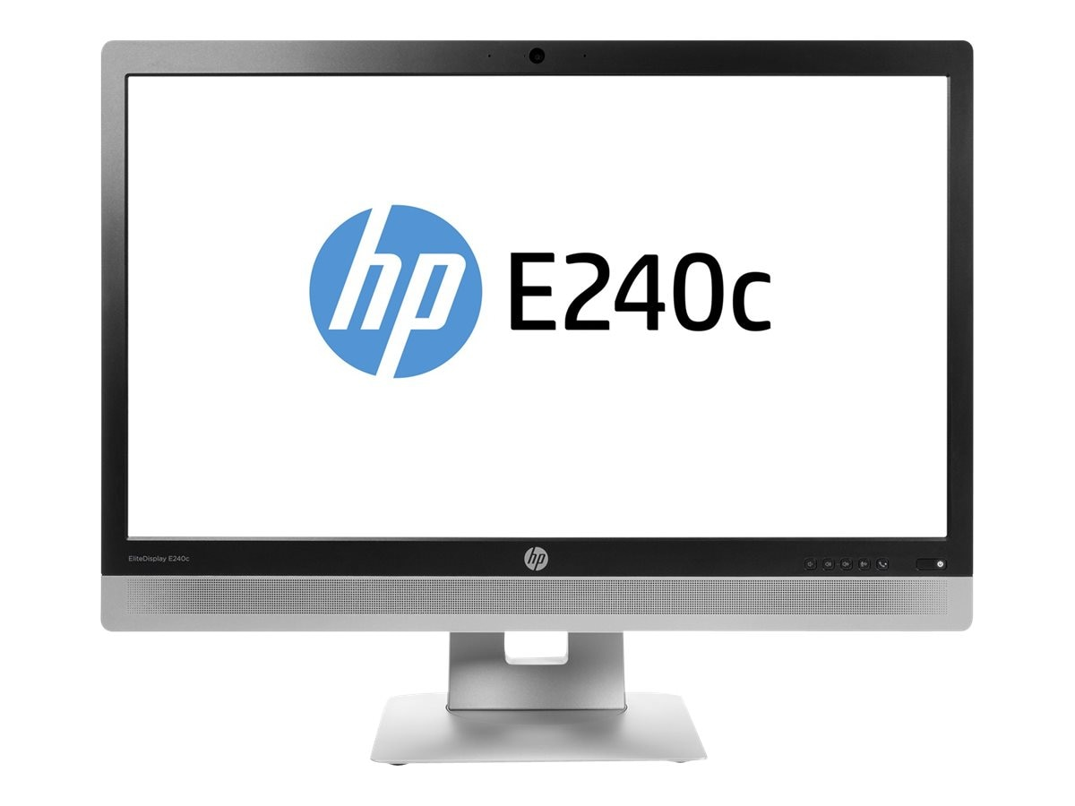 HP 23.8 E240C Full HD LED-LCD Monitor with Webcam, Black, M1P00AA#ABA, 30737370, Monitors - LED-LCD