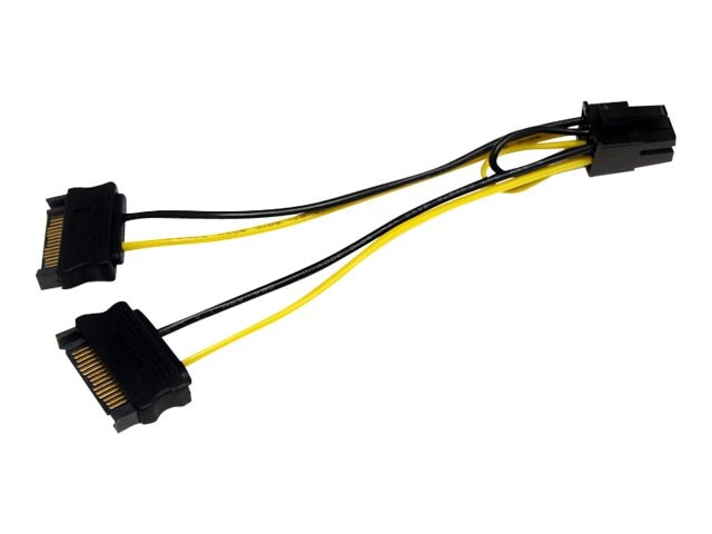 StarTech.com SATA Power to 6pin PCI Express Video Card Power Cable Adapter, 6in, SATPCIEXADAP, 14006489, Cables