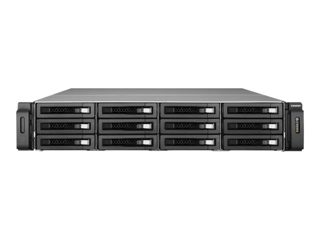 Qnap 12-Bay 2.5 iSCSI 2U SAS SATA 6Gb s 4LAN 10G-Ready NAS w  Redundant Power Supply, SS-EC1279U-SAS-RP-US