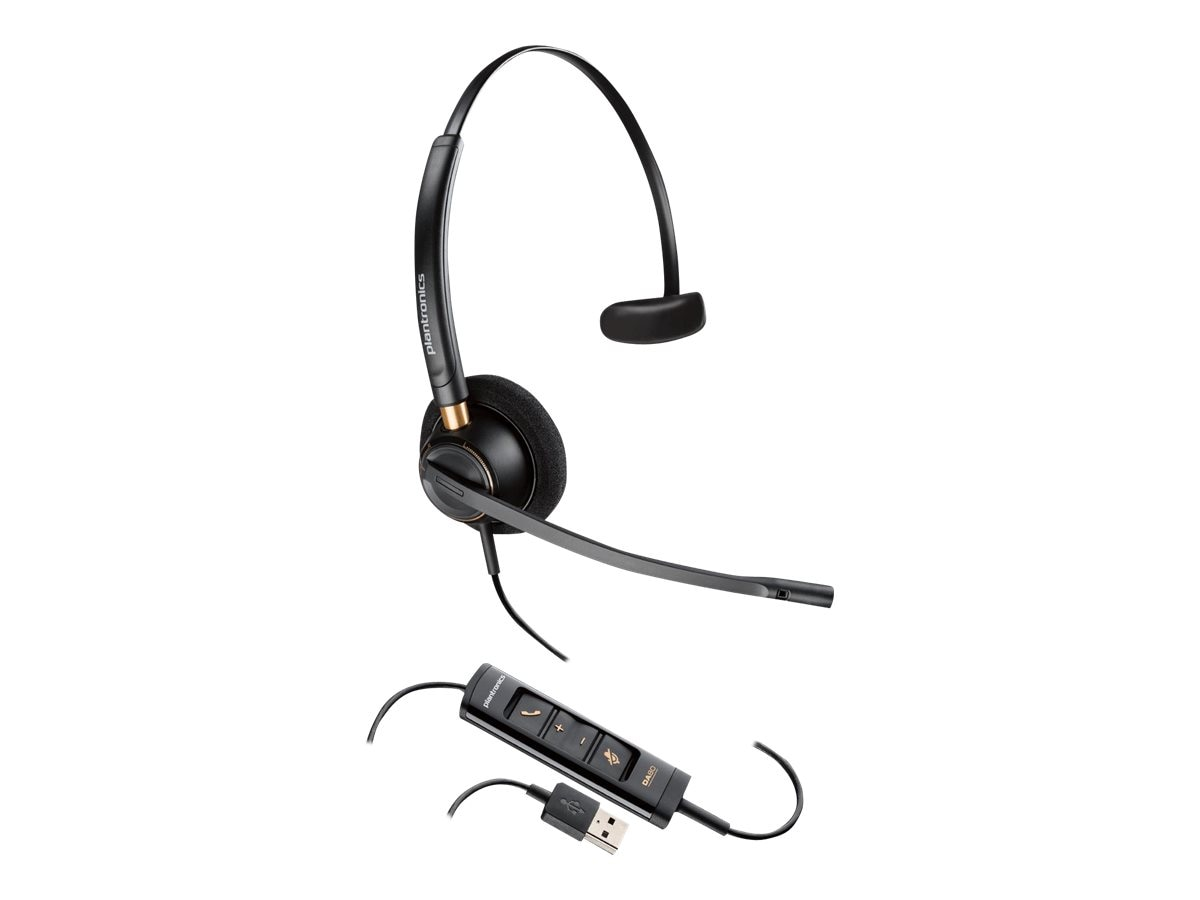 Plantronics HW515 USB Headset, 203442-01