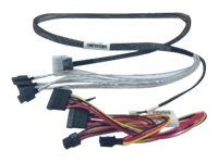 Intel Mini-SASHD to 4x 7-pin Fan Out Data Cable and  Power Cable