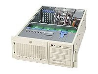 Supermicro Chassis, 4U, Tower, 2Xeon, EATX, 800MHz, 6 PCI, IDE, 8HD Bays, 3x5.25 Bays, No CD FDD, 645W PS-Beige, CSE-743I-645, 5411589, Cases - Systems/Servers