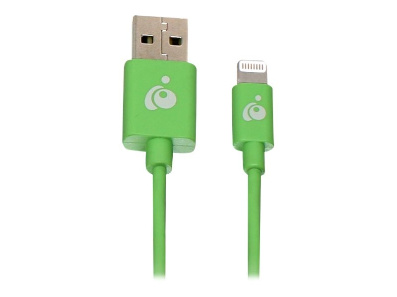 IOGEAR Reversible USB to Lightning Cable, Green, 1m, GRUL01-GR