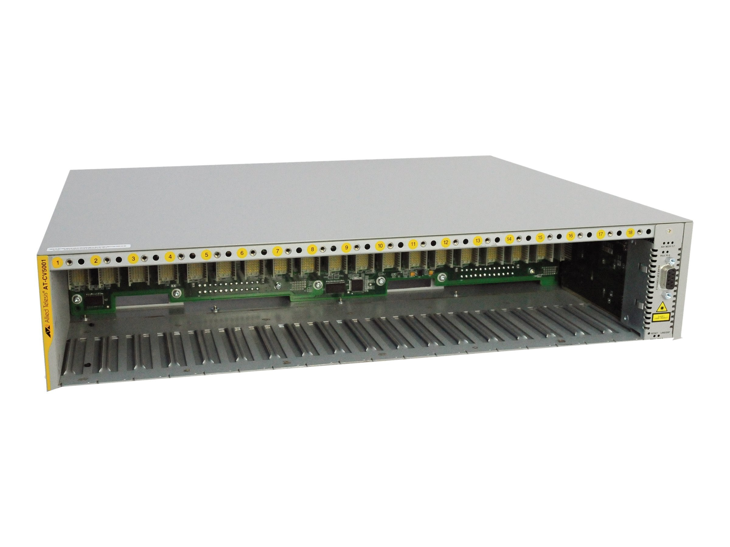 Allied Telesis Converteon 18 Slot Media Converter Chassis No Power Supply, AT-CV5001, 11809921, Network Transceivers