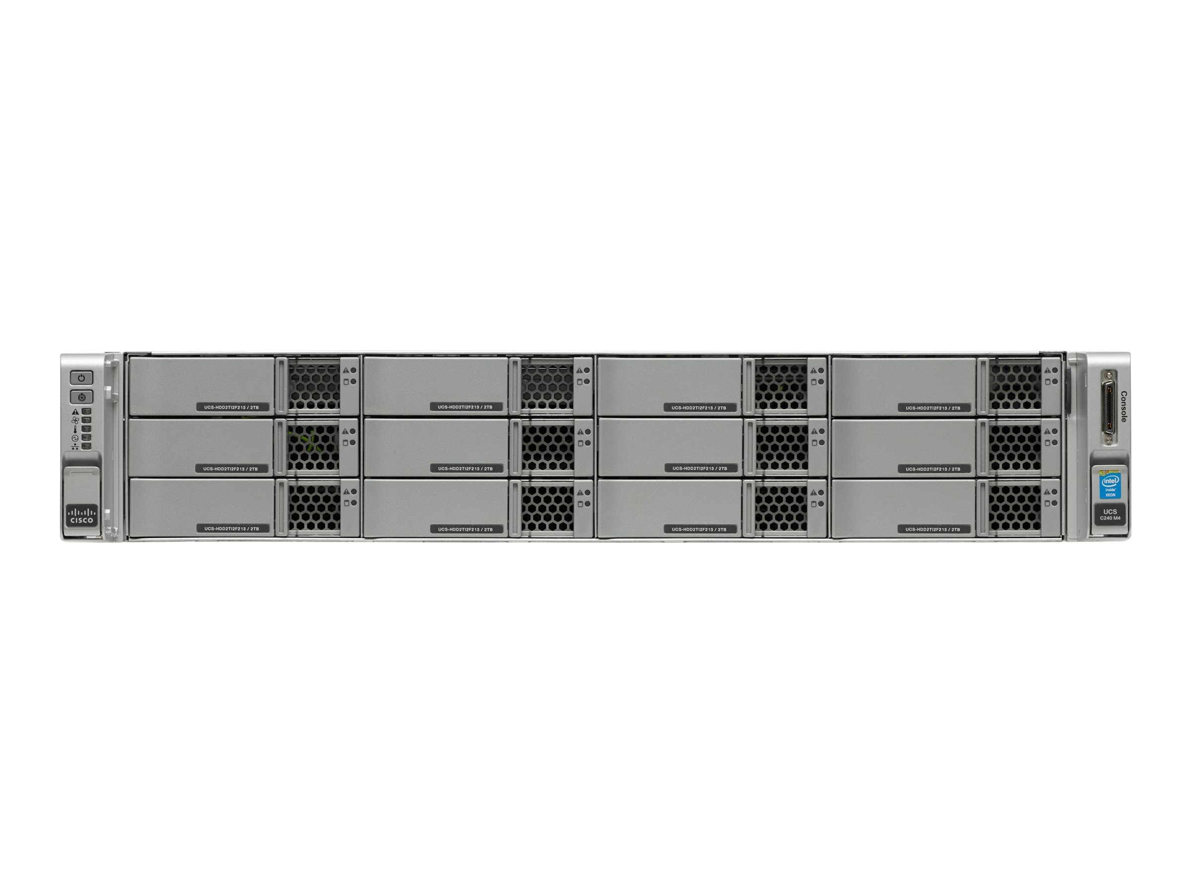 Cisco Connected Safety and Security UCS M4 2RU K9 (2x)Xeon E5-2600 v3 Family 32GB 12x3.5 Bays, CPS-UCSM4-2RU-K9