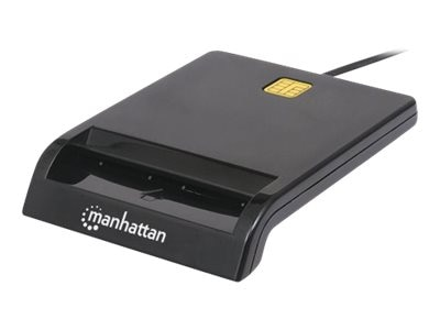 Manhattan USB External Smart Card Reader, Black