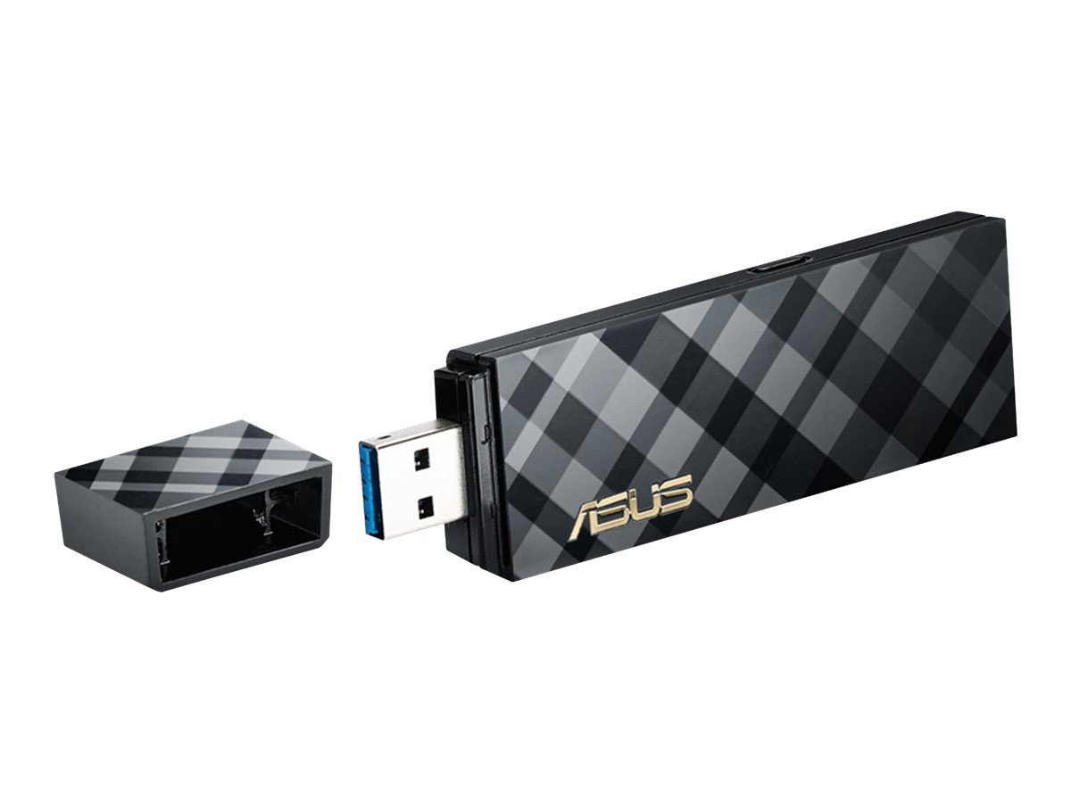Asus Dual-band Wireless-AC1300 USB 3.0 Wi-Fi Adapter, USB-AC55, 18135721, Wireless Adapters & NICs