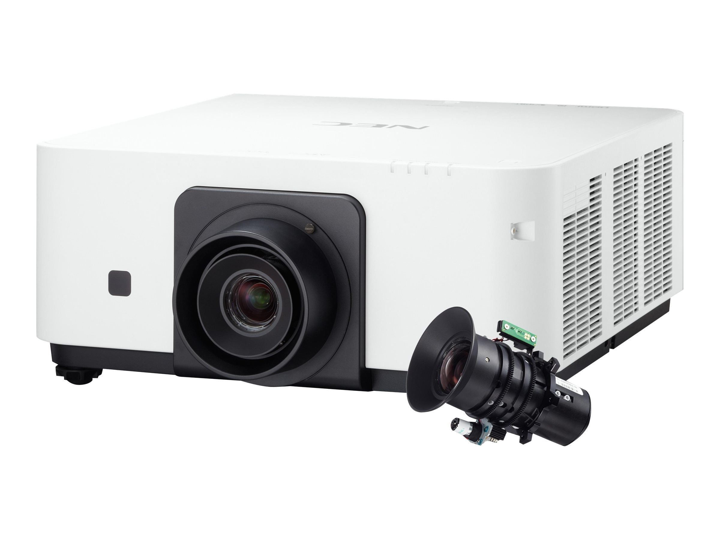 NEC PX602UL WUXGA DLP Projector, 6000 Lumens, White with Zoom Lens, NP-PX602UL-W-35, 18111657, Projectors