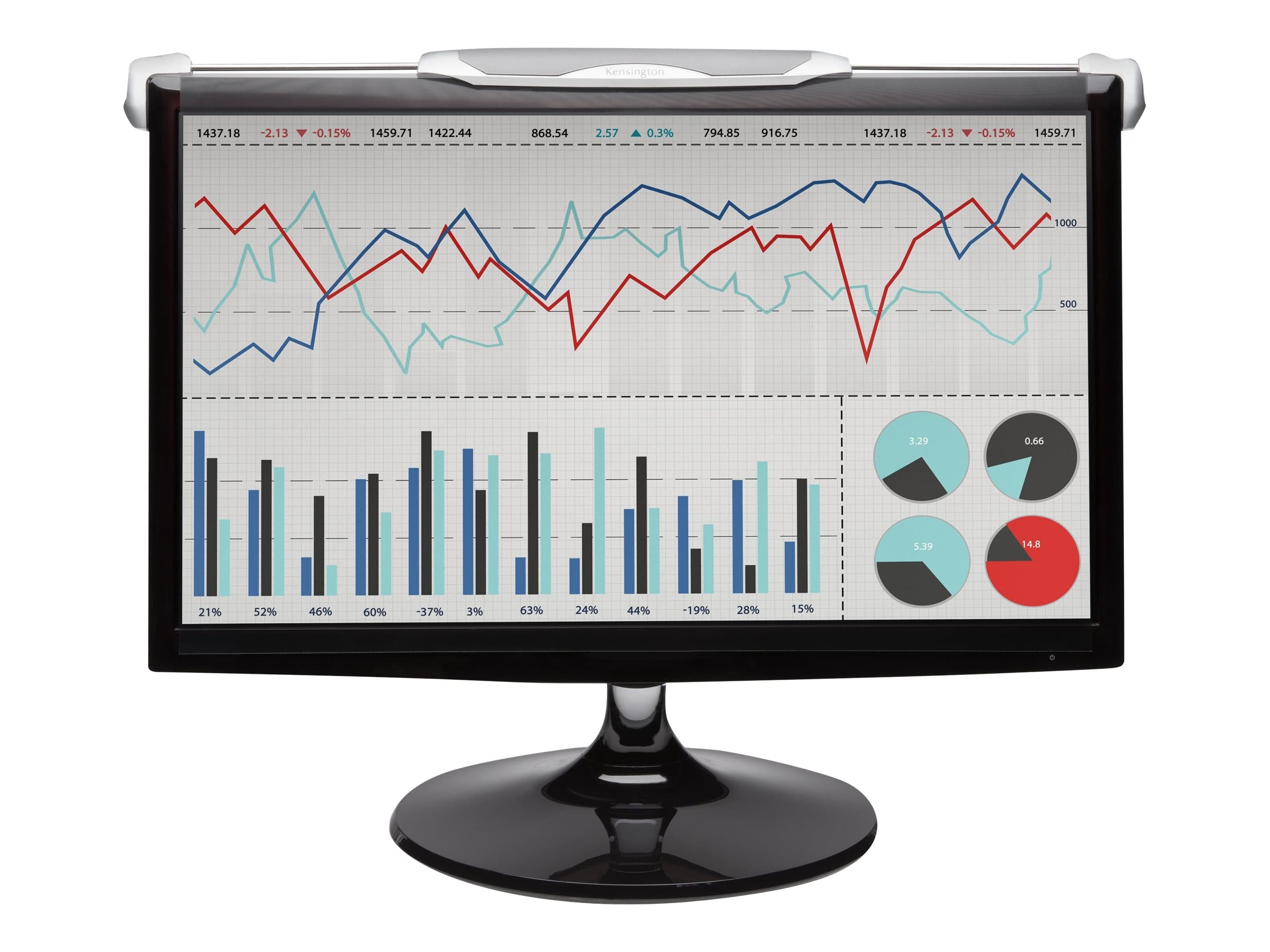 "Kensington FS240 Snap2 Privacy Screen for 22""-24"" Widescreen Monitors, K55315WW"