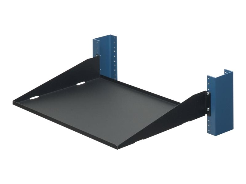 Innovation First Relay Rack Shelf, 13, Solid, Flanges Up, 60lb Capacity, 2USHL-022HALF-13US, 5513796, Rack Mount Accessories
