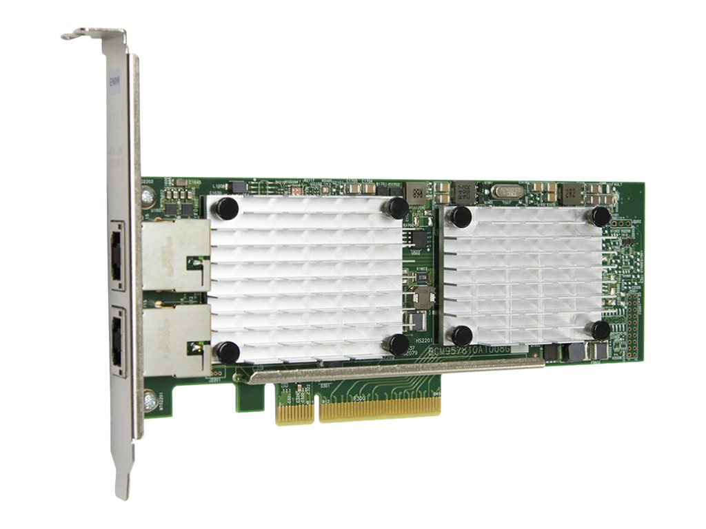 Qlogic 2-Port PCIe 3 to 10GbE BASE-T Adapter, QLE3442-RJ-BK