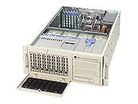 Supermicro Chassis, 4U, Tower, 2Xeon, 800MHz, EATX, 6 PCI, SCSI-1Ch, 8HD Bays, 3x5.25, No CD FDD, 760W PS-Beige, CSE-743S1-R760, 5411749, Cases - Systems/Servers