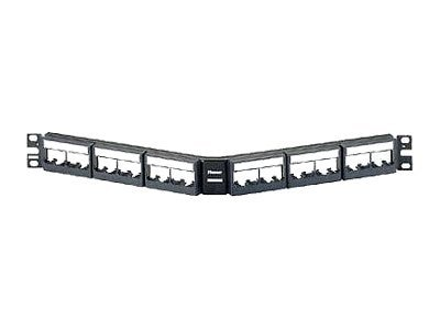 Panduit 24-Port Angled Patch Panel for QuickNet Cassettes & Patch Panel Adapters