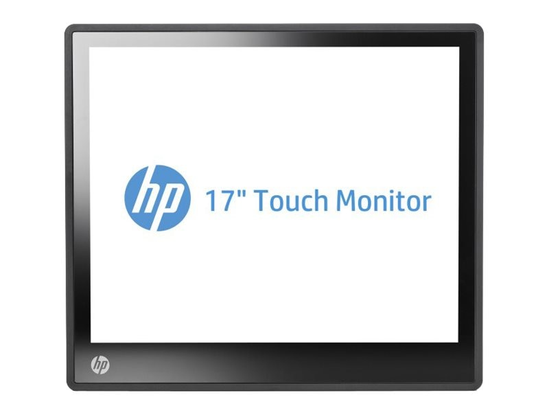 HP 17 L6017TM LED-LCD Touch Monitor, Black, A1X77AA#ABA, 14736449, Monitors - LED-LCD